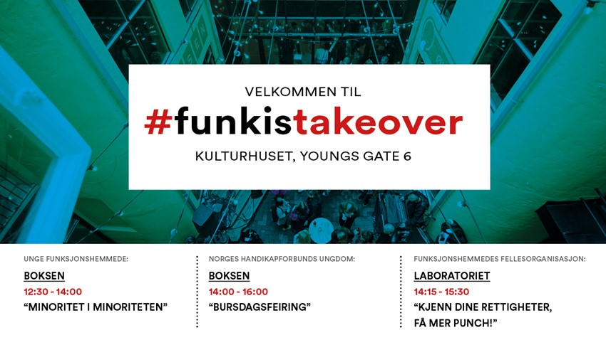 Funiks take-over på Kulturhuset