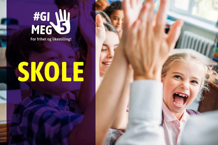 High five! Skole